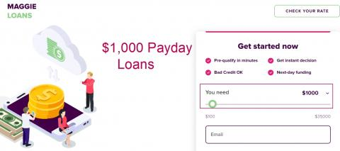 $1,000 dollar loan