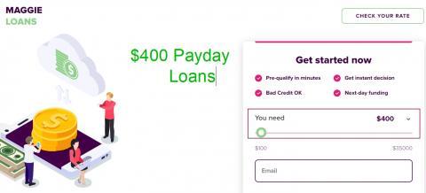400 Dollar Loan