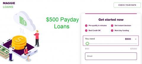 500 dollar loans