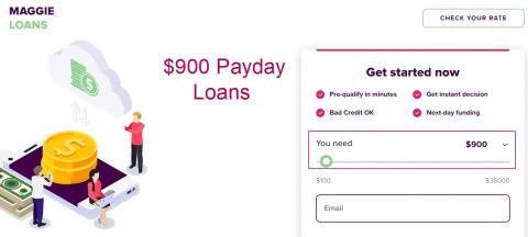 900 dollar loans